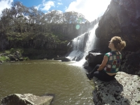 Caitlin at Ebor Falls