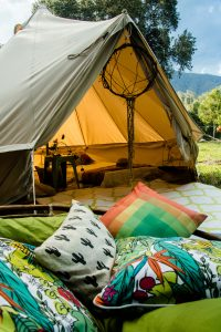 Glamping tents at Spirit of the Rainforest